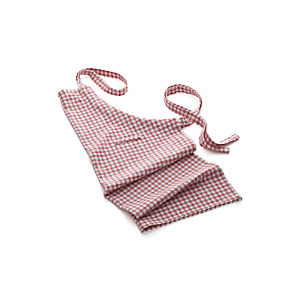 Red Grid Apron