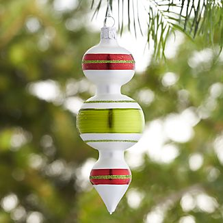 Retro Double Bubble Drop Ornament