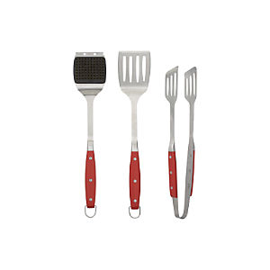 Red Handle Grilling Tools