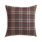 Red Plaid Pillow with Feather-Down Insert.