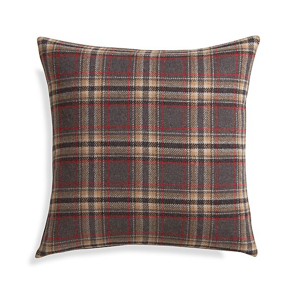 "Red Plaid 18"" Pillow"