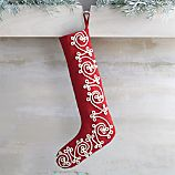 Red Scroll Stocking