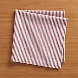 Red Ticking Stripe Napkin