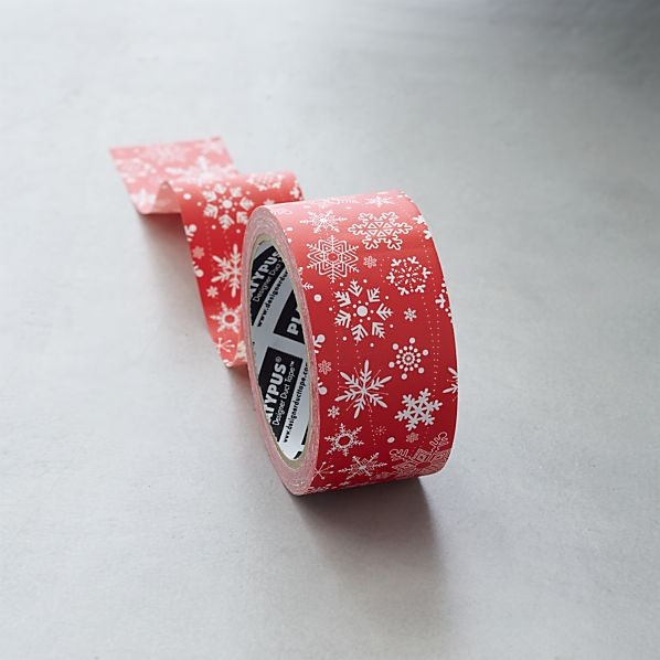 Red and White Snowflake Tape
