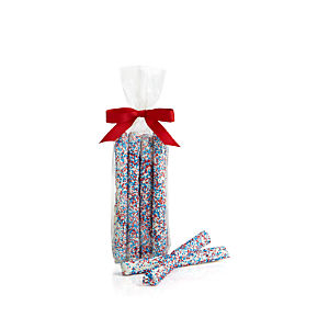 Red and White and Blue Pretzel Rods Set of Six