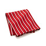 Red and White Butcher Stripe Dish Towel