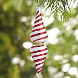 Retro Swirl Stripe Drop Ornament