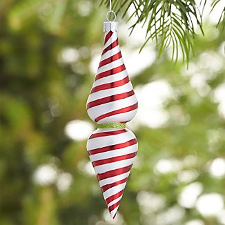 Retro Swirl Stripe Drop Ornament