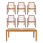 Regatta 7-Piece Dining Set (Extension Dining Table, 6 Mesh Dining Chairs).