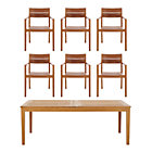 Regatta 7-Piece Dining Set (Extension Dining Table, 6 Teak Dining Chairs).
