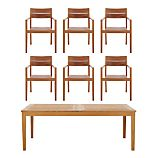 Regatta 7-Piece Extension Table/Teak Chair Dining Set