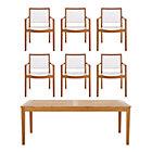 Regatta 7-Piece Dining Set (Rectangular Dining Table, 6 Mesh Dining Chairs).