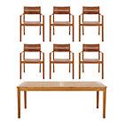Regatta 7-Piece Dining Set (Rectangular Dining Table, 6 Teak Dining Chairs).