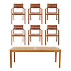 Regatta 7-Piece Dining Set (Rectangular Dining Table, 6 Teak Dining Chairs).