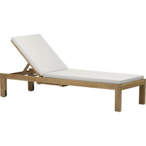 Regatta Chaise Lounge with Sunbrella White Sand Cushion
