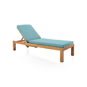 Regatta Chaise Lounge with Sunbrella ® Mineral Blue Cushion