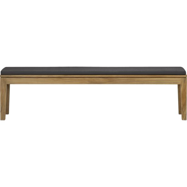 Regatta Dining Bench with Sunbrella® Charcoal Cushion