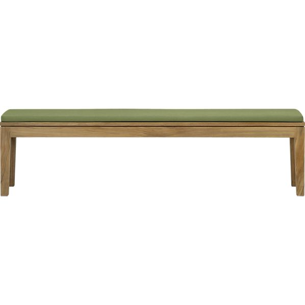 Regatta Dining Bench with Sunbrella® Cilantro Cushion