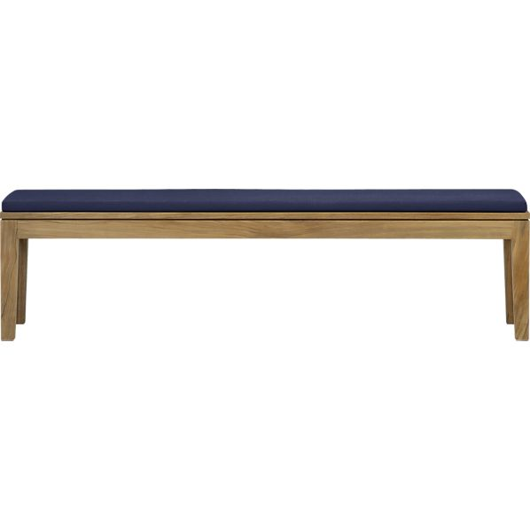 Regatta Dining Bench with Sunbrella® Indigo Cushion