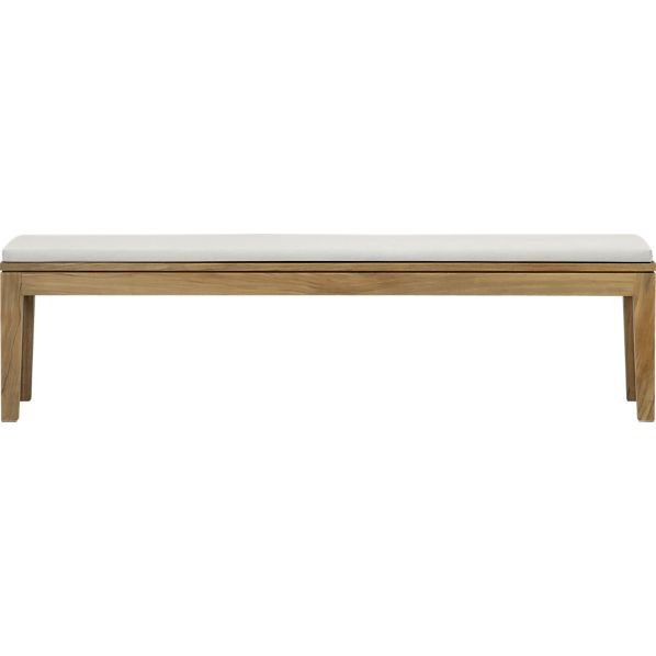 Regatta Dining Bench with Sunbrella® White Sand Cushion