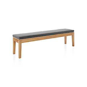 Regatta Dining Bench with Sunbrella ® Charcoal Cushion