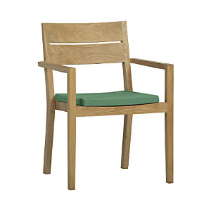 Regatta Dining Chair with Sunbrella® Bottle Green Cushion