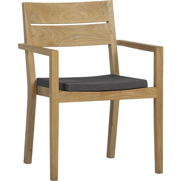 Regatta Dining Chair with Sunbrella ® Charcoal Cushion