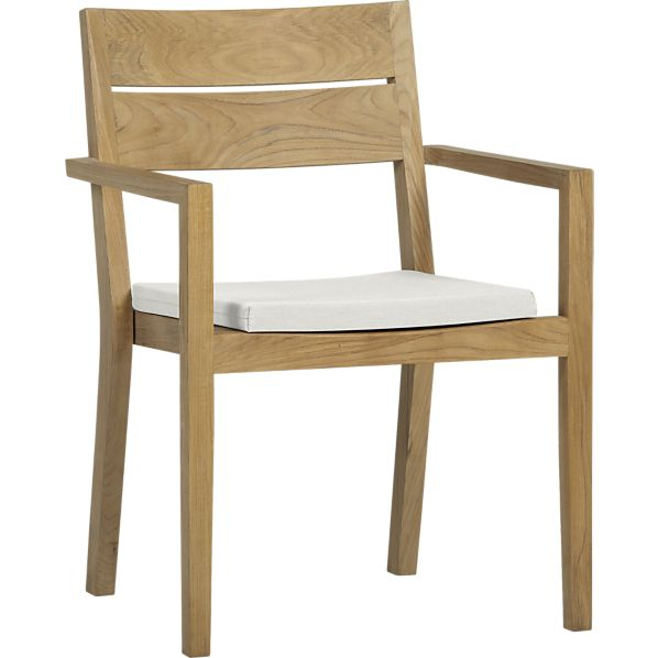 Regatta Dining Chair with Sunbrella ® White Sand Cushion