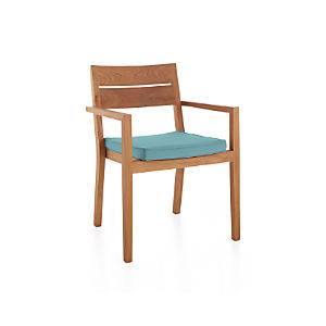 Regatta Dining Chair with Sunbrella ® Mineral Blue Cushion
