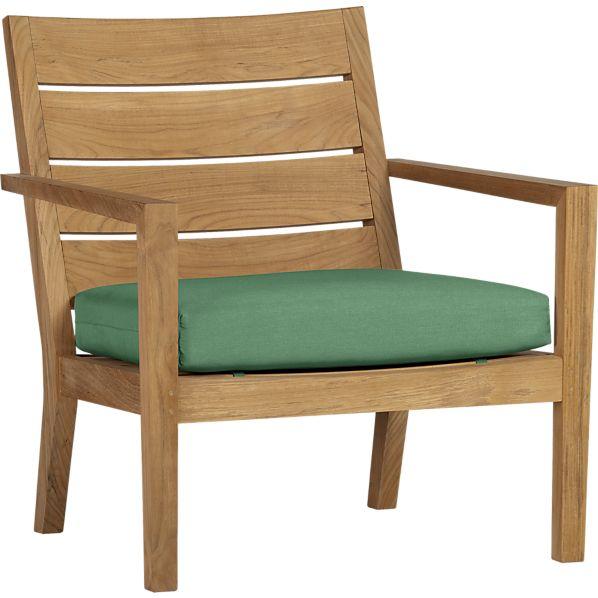 Regatta Lounge Chair with Sunbrella ® Bottle Green Cushion