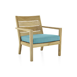 Regatta Lounge Chair with Sunbrella ® Mineral Blue Cushion