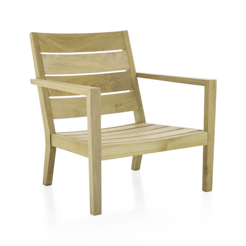 Our eco-friendly Regatta teak lounge collection cuts a clean, classic profile in a bold wide-slat design. Relax in a generous lounge chair with sleek arms and comfortable angled backs. Each piece is handcrafted of solid teak certified by the Forest Stewardship Council (FSC), a nonprofit organization that encourages responsible management of the world's forests. We recommend allowing the unfinished teak to weather to a silvery grey. To maintain the natural color, use our Golden Care® Teak Protector. Regatta dining collection also available.<br /><br /><NEWTAG/><ul><li>Handcrafted</li><li>Solid FSC-certified teak</li><li>Unfinished</li><li>Mortise-and-tenon joinery</li><li>Stainless steel hardware</li><li>Made in Indonesia</li></ul>