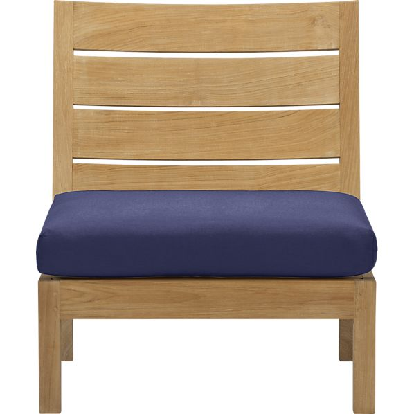 Regatta Modular Armless Chair with Sunbrella ® Indigo Cushion