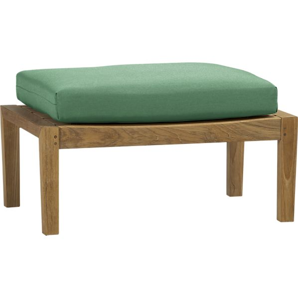 Regatta Ottoman with Sunbrella® Bottle Green Cushion