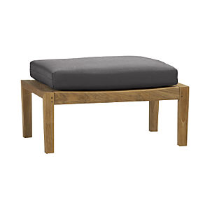 Regatta Ottoman with Sunbrella® Charcoal Cushion