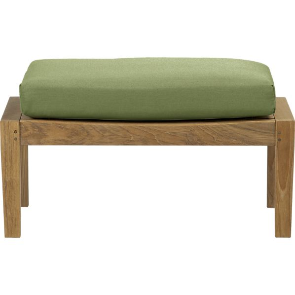 Regatta Ottoman with Sunbrella® Cilantro Cushion