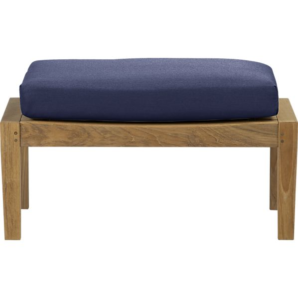 Regatta Ottoman with Sunbrella® Indigo Cushion