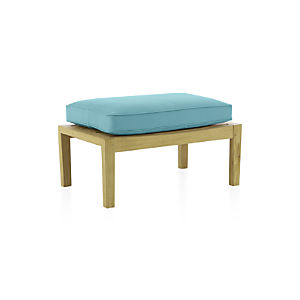 Regatta Ottoman with Sunbrella ® Mineral Blue Cushion