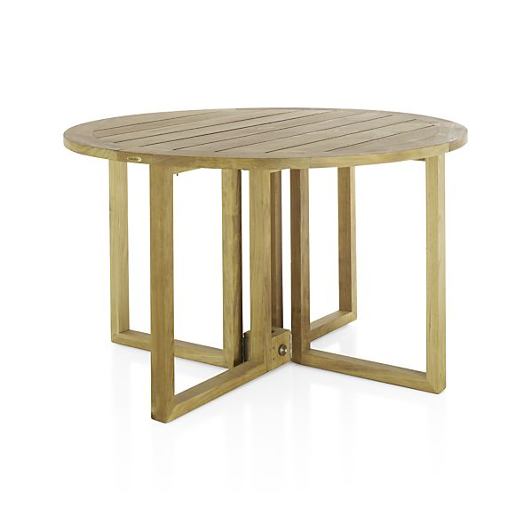 regatta round drop leaf table in regatta dining crate and barrel. Black Bedroom Furniture Sets. Home Design Ideas