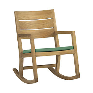 Regatta Rocking Chair with Sunbrella® Bottle Green Cushion
