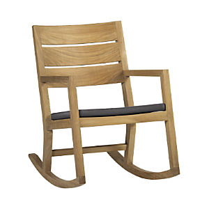 Regatta Rocking Chair with Sunbrella® Charcoal Cushion
