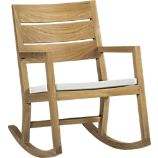 Regatta Rocking Chair with Sunbrella White Sand Cushion