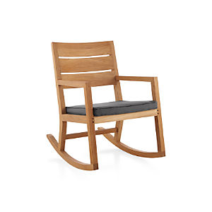 Regatta Rocking Chair with Sunbrella ® Charcoal Cushion