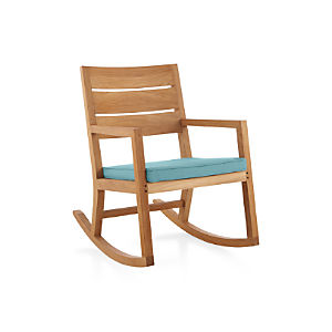 Regatta Rocking Chair with Sunbrella ® Mineral Blue Cushion