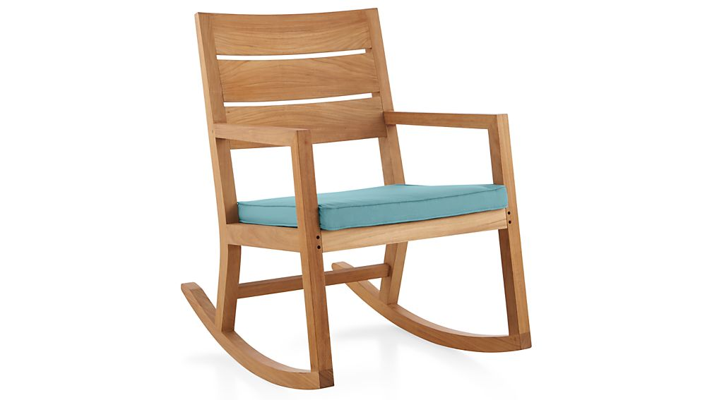 Regatta Sunbrella ® Rocking Chair Cushion - Mineral  Crate and ...
