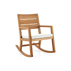 Regatta Rocking Chair with Sunbrella ® White Sand Cushion