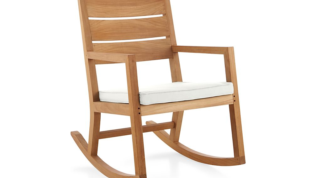 Regatta Rocking Chair with Sunbrella ® Cushion - White Sand  Crate ...
