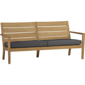 Regatta Sofa with Sunbrella® Charcoal Cushions