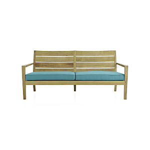 Regatta Sofa with Sunbrella ® Mineral Blue Cushion