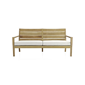 Regatta Sofa with Sunbrella ® White Sand Cushion